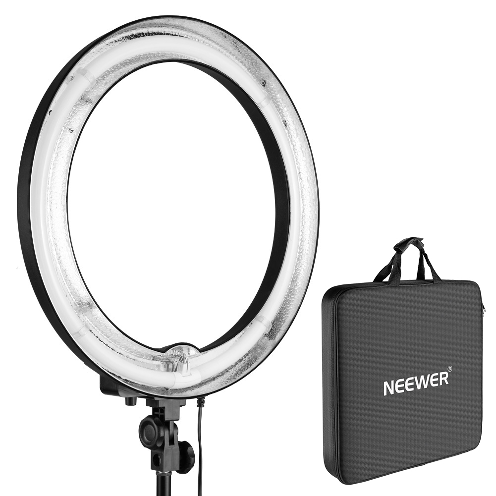 "Neewer 18"" Ring Light Dimmable Camera Fluorescent Light Image"
