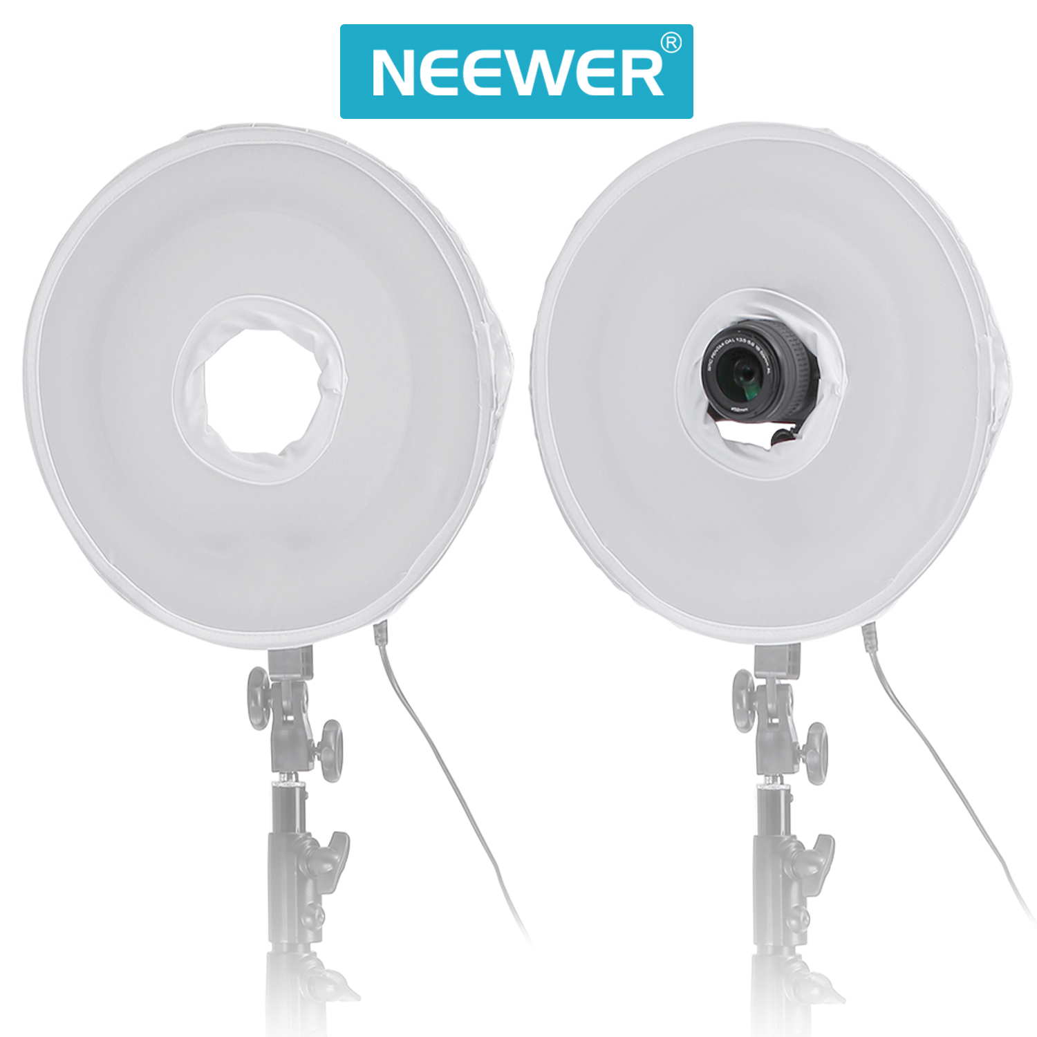 Studio Lighting Diffuser: 45cm 18inch Collapsible Photography Video Light Softbox